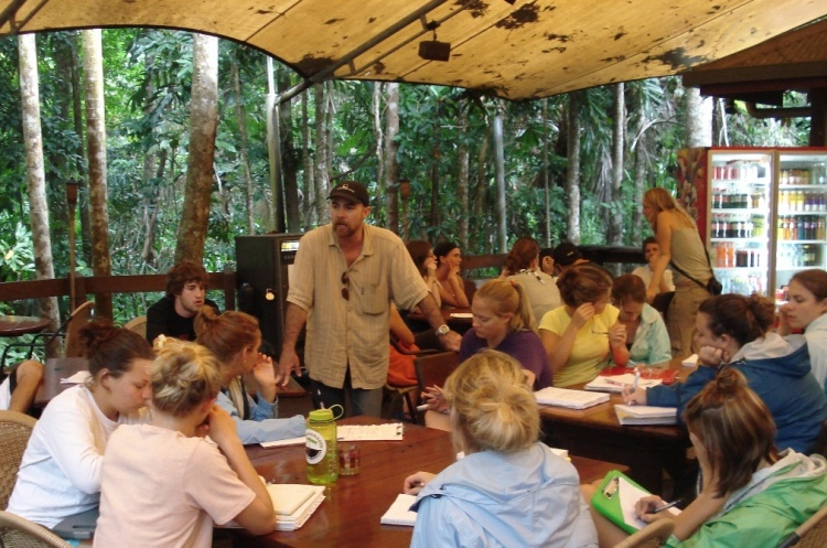 Class in the Daintree Rainforest, Cape Tribulation